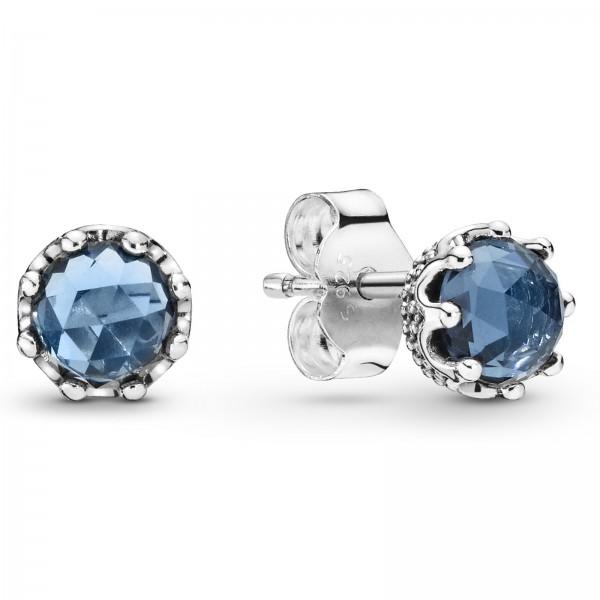 Blue Sparkling Crown PANDORA Ohrstecker 298311NMB