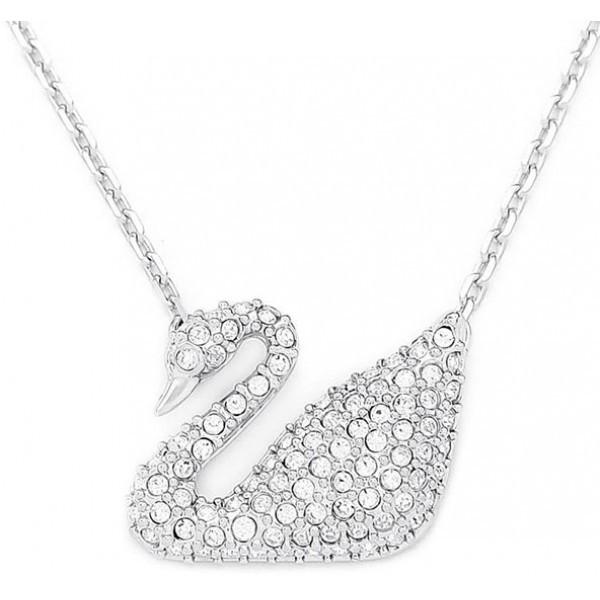 Swarovski Swan Halskette, Weiss, Rhodiniert 5007735