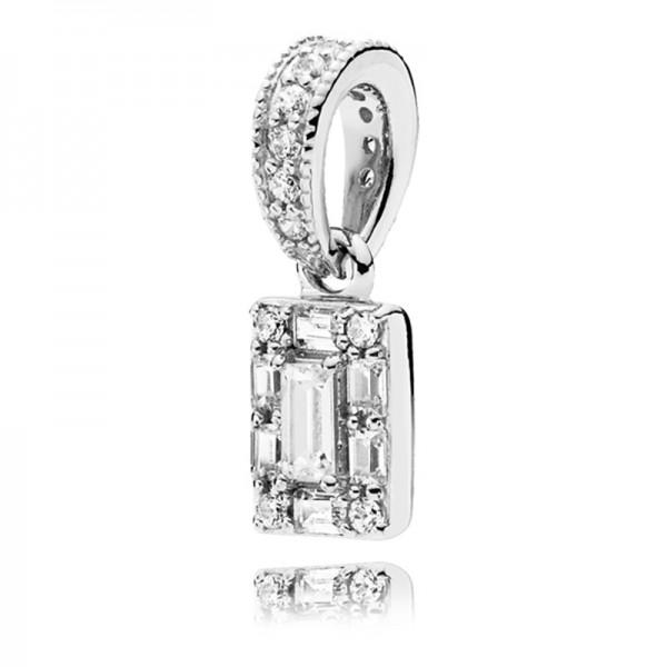 Eiswürfel PANDORA Kettenanhänger Ice cube silver pendant 397543CZ