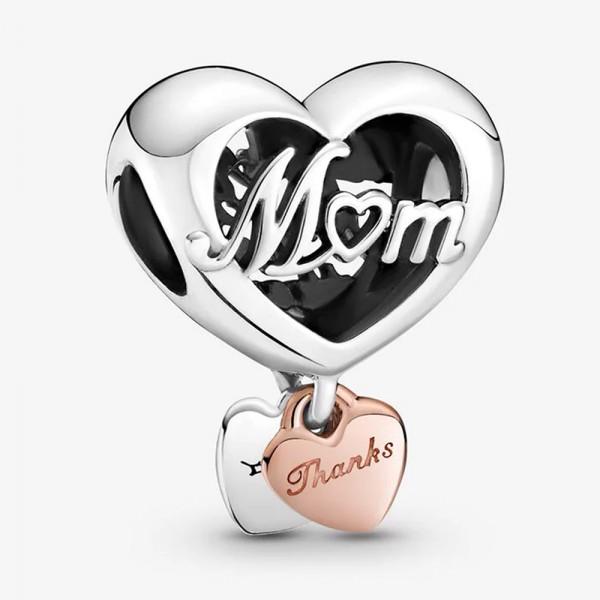 Dankeschön Mum Herz PANDORA ROSE Charm 789372C00
