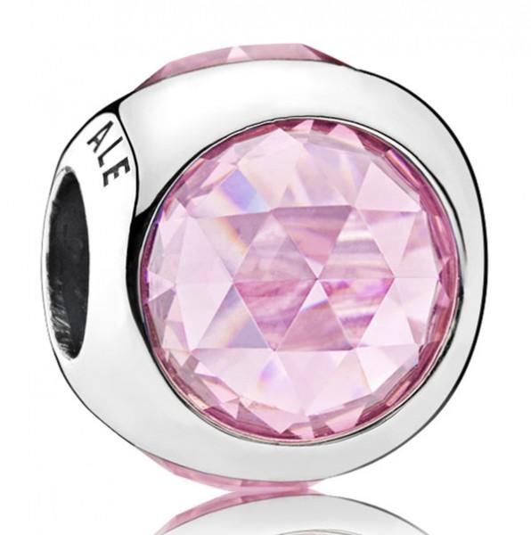 PANDORA Charm Strahlendes Tröpfchen rosa 792095PCZ