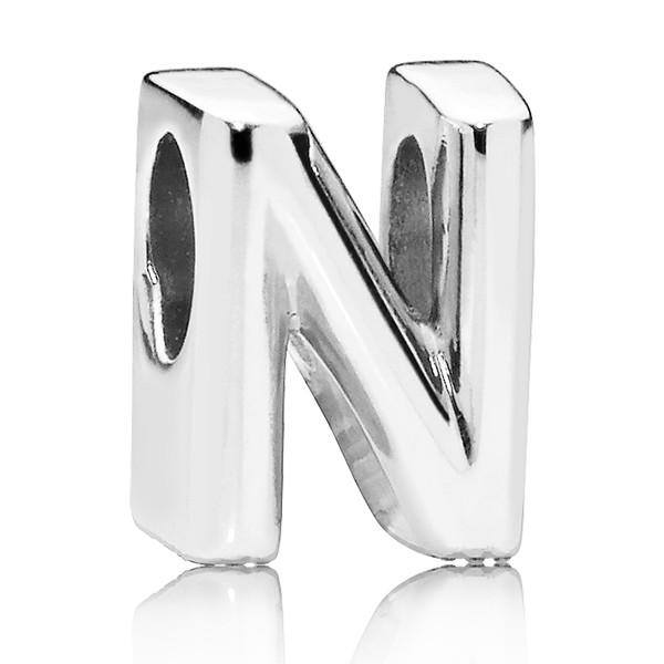 PANDORA Buchstabe Letter N silver charm 797468