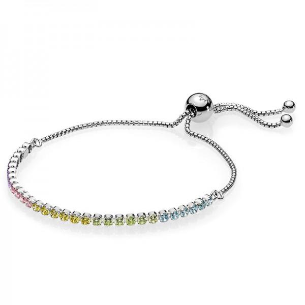 PANDORA Multi-Colour Sparkling Strand Bracelet 590524PCZMX-1