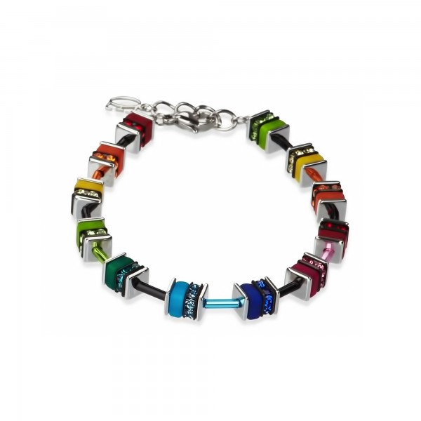 Coeur De Lion Geo Cube Armband multicolor small Swarovski® Kristall 4409301500