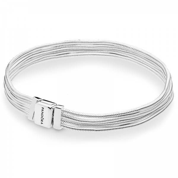 Pandora Reflexions Multi Snake Armband 925 Sterling Silber 597943