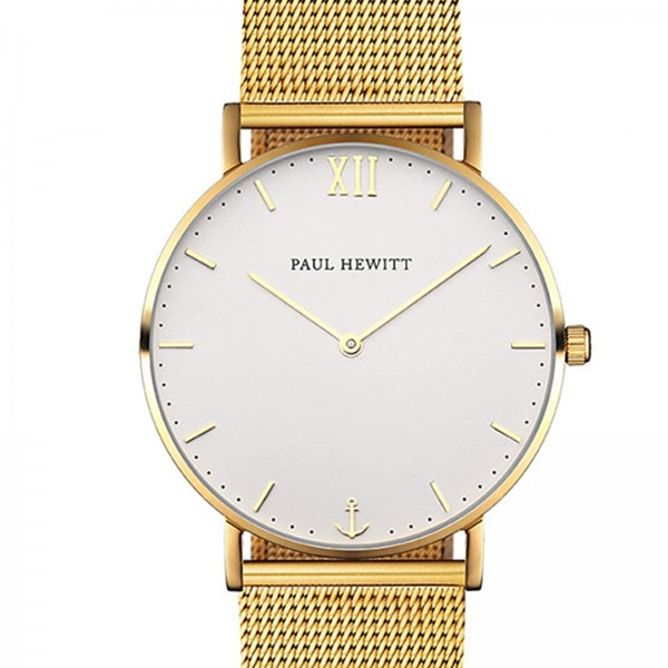 PAUL HEWITT Sailor Line Uhr Gold White Sand PH-SA-G-St-W-4S