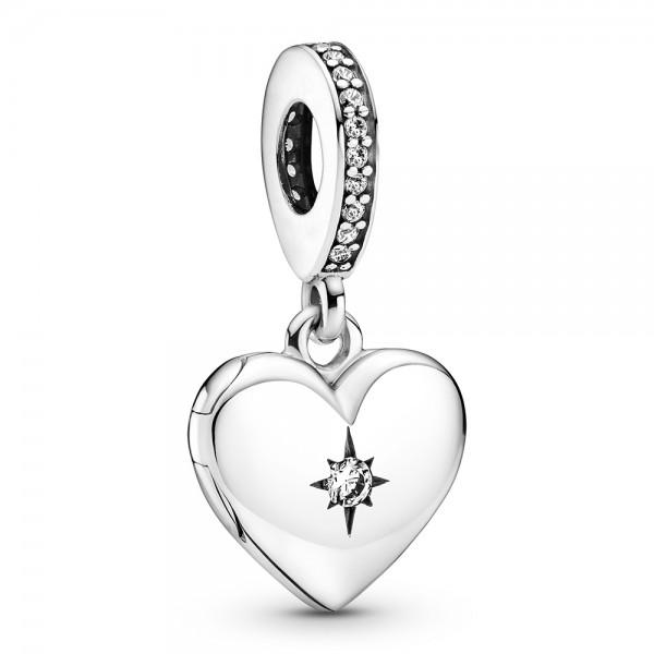 Aufklappbares Herz Medaillon PANDORA Charm-Anhänger 799537C01