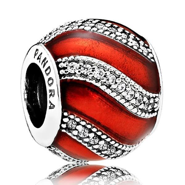 PANDORA Charm Weihnachtsornament rot 791991EN07