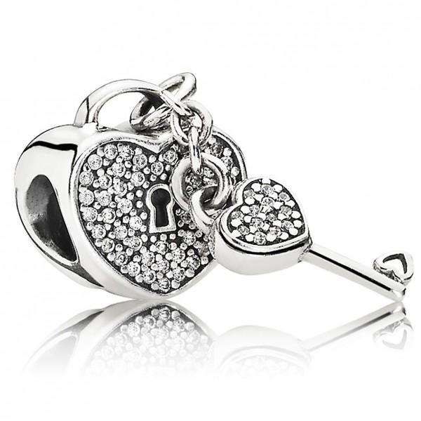 PANDORA Charm Schlüssel zu meinem Herzen Pave 791429CZ