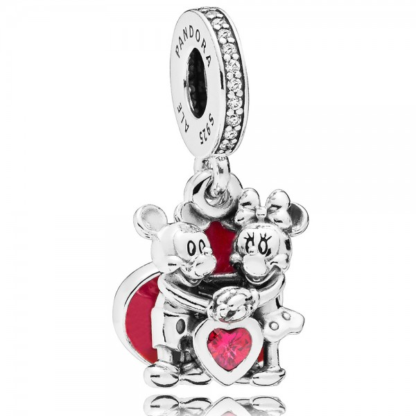 PANDORA Charm-Anhänger Disney Minnie und Micky with Love 797769CZR