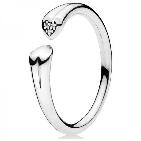 PANDORA Ring Zwei Herzen 196572CZ