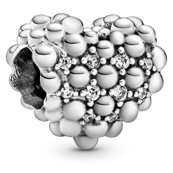 Funkelndes Metallperlen-Herz Charm PANDORA Charm 798681C01