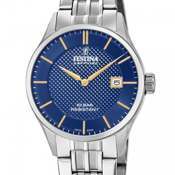Festina Swiss Made Capsule Collection Swiss Made Damenuhr in Silber F20006/3