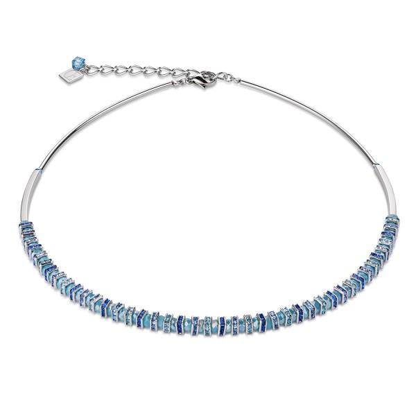 Collier Frontline Swarovski® Kristalle & geschliffenes Glas hellblau 4858100720