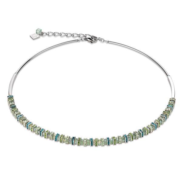 Collier Frontline Swarovski® Kristalle & geschliffenes Glas mintgrün 4858100522
