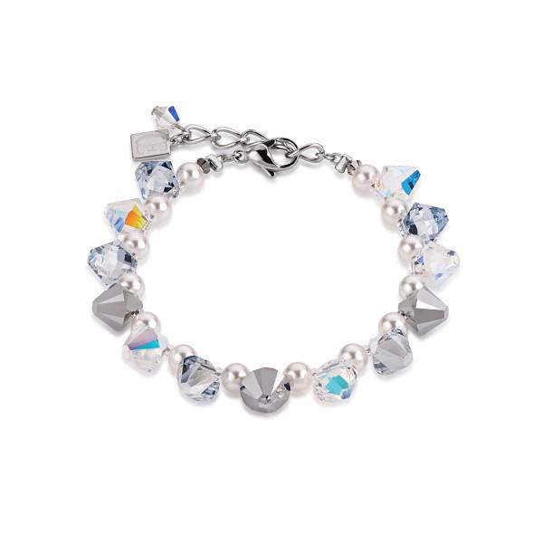 Armband Big Swarovski® Kristalle & Crystal Pearls by Swarovski® kristall-silber 4873301817