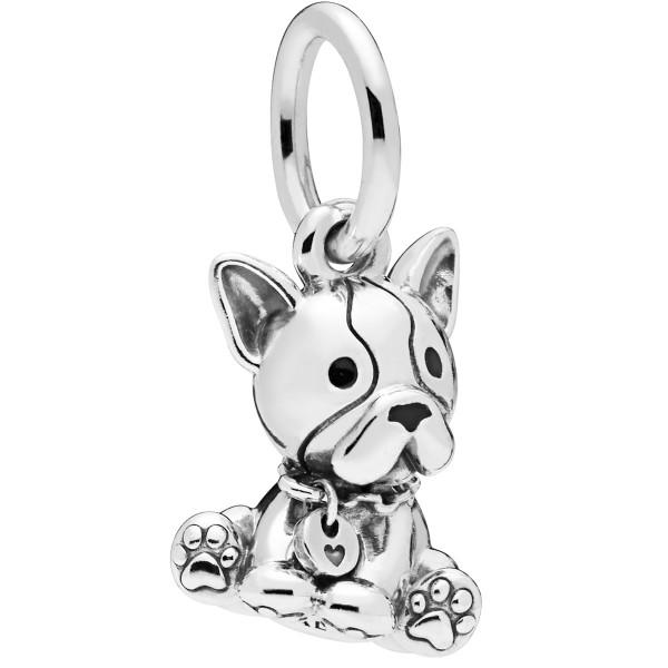 Bulldog Puppy PANDORA Charm Anhänger 798008EN16