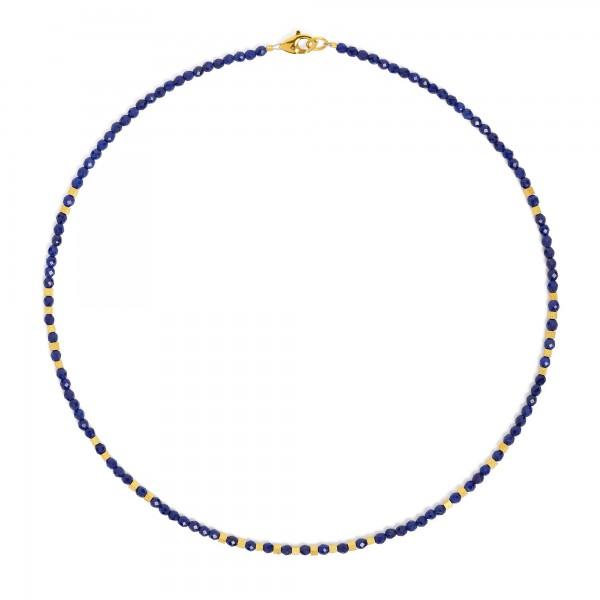 84459236 Cubinos Designlinie Cubes Halskette mit elegant leuchtendem Lapislazuli und 24 Karat Gold