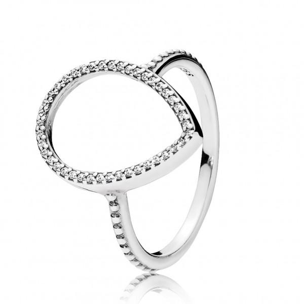 PANDORA Tropfensilhouette Ring 196253CZ