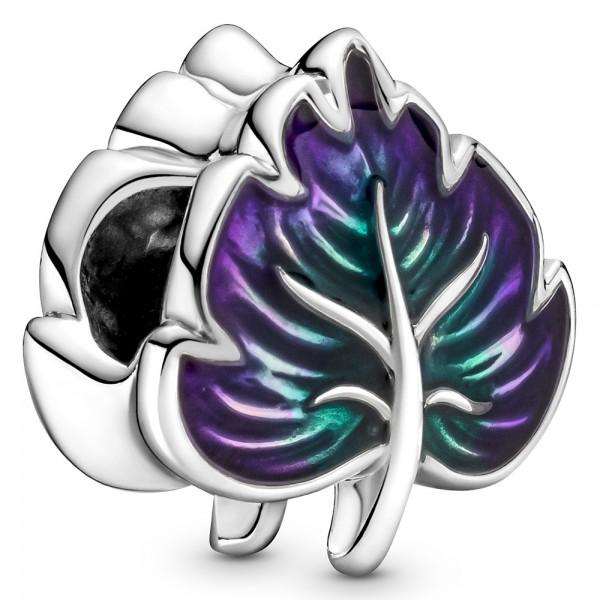 Violettes und Grünes Blatt PANDORA Charm 799542C01