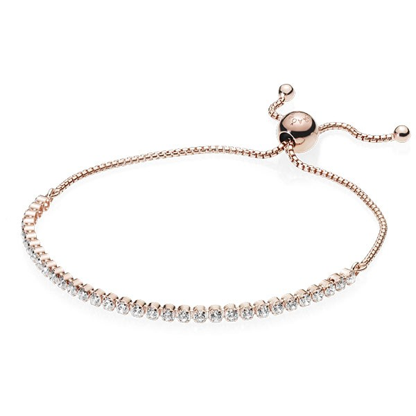 PANDORA Armband Rose bracelet with clear cubic zirconia 580524CZ-1