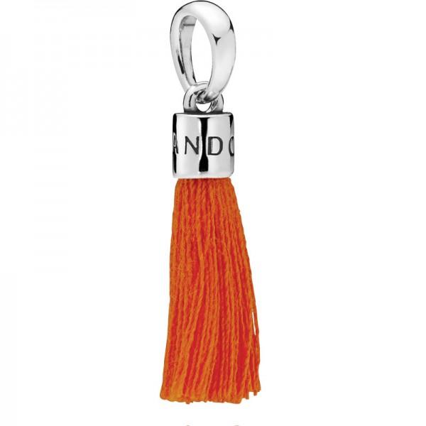 PANDORA Orange Tassel Charm Dangle 797212COE