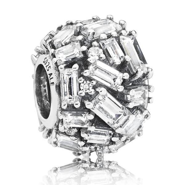 Eiswuerfel PANDORA Charm Ice cube silver charm 797746CZ