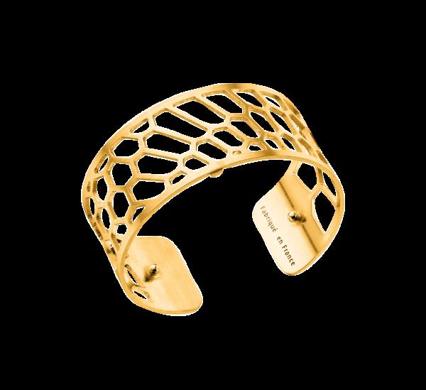 Les Georgettes Armreif Nid d´abeille Gold 25mm 70285710100000
