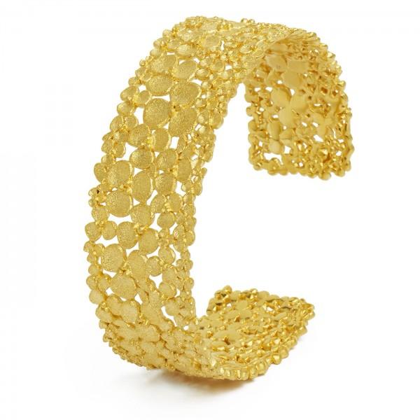 63014506 Lianna Armreif mit 925er Sterlingsilber und 24 Karat Goldplattierung