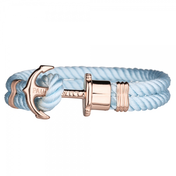 PAUL HEWITT PHREP Roségold Anker Nylon Armband Blue Sky PH-PH-N-R-Bs-S