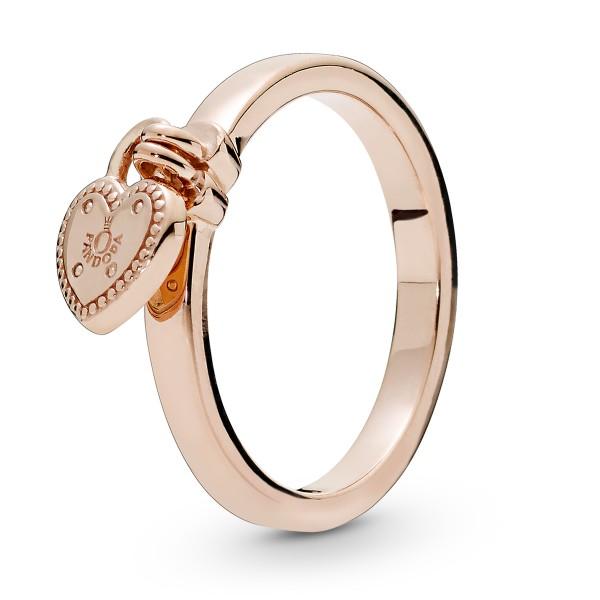 Heart Lock Herzschloss PANDORA Rose Ring 186571