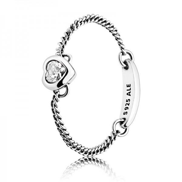 PANDORA Ring Spirited Heart 197191CZ-48