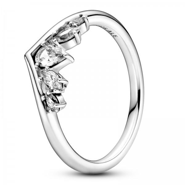 Birnen- & Marquise-Schliff funkelnder Wishbone-Ring 199109C01