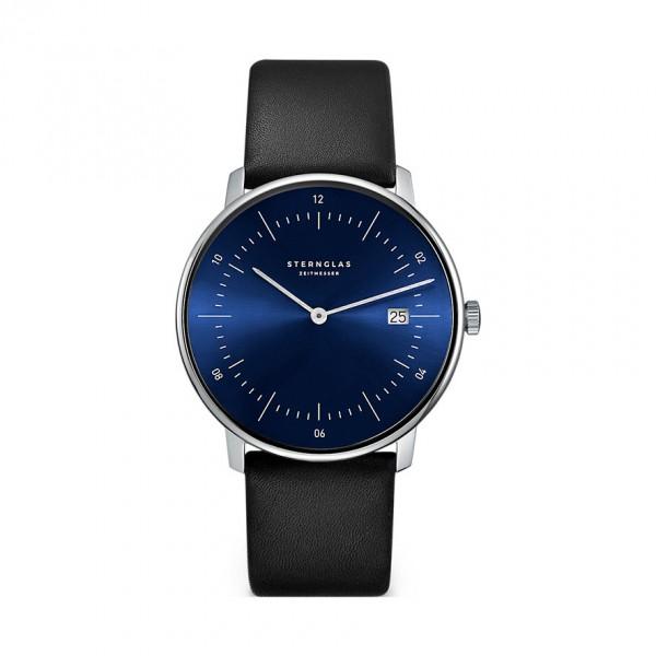 NAOS Blau STERNGLAS Zeitmesser Sonnenschliff Premium schwarz SNQ21/108
