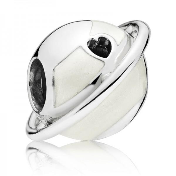 Planet PANDORA Charm silber charm with silver enamel 797748EN23