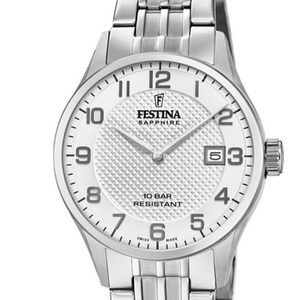 Festina Swiss Made Capsule Collection Swiss Made Damenuhr in Silber F20006/1