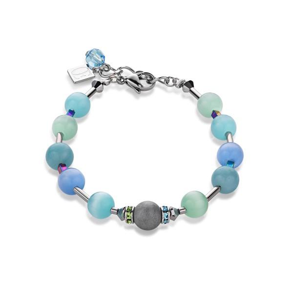 Coeur De Lion Armband Swarovski® Kristalle & Achat blau-grün 4805300705