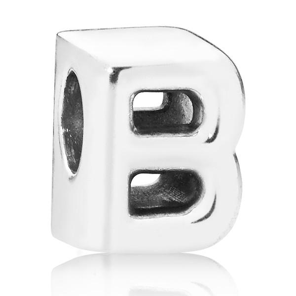 PANDORA Buchstabe Letter B silver charm 797456