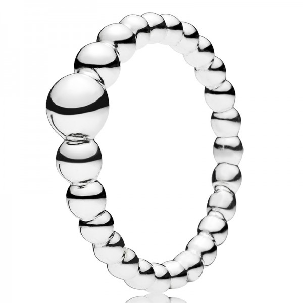 Beaded silver PANDORA ring silber 197536
