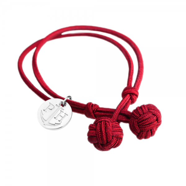 PAUL HEWITT Silber Knotenarmband Rot PH-KB-R-S-S