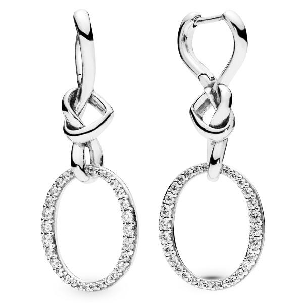 Knotted Hearts Silver Earrings PANDORA Ohringe 298110CZ