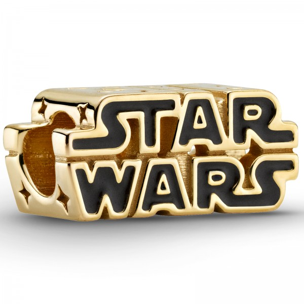 Vergoldetes Star Wars Krieg der Sterme 3D-Logo PANDORA Charm 769247C01