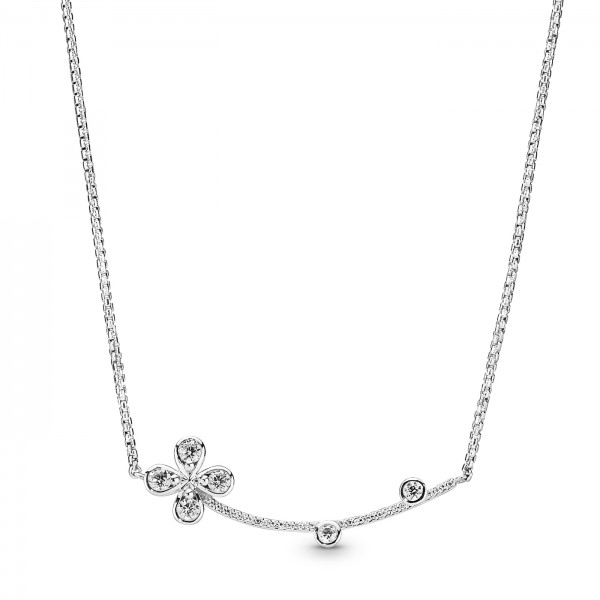 Four-Petal Flower Necklace PANDORA Halskette 397956CZ-50