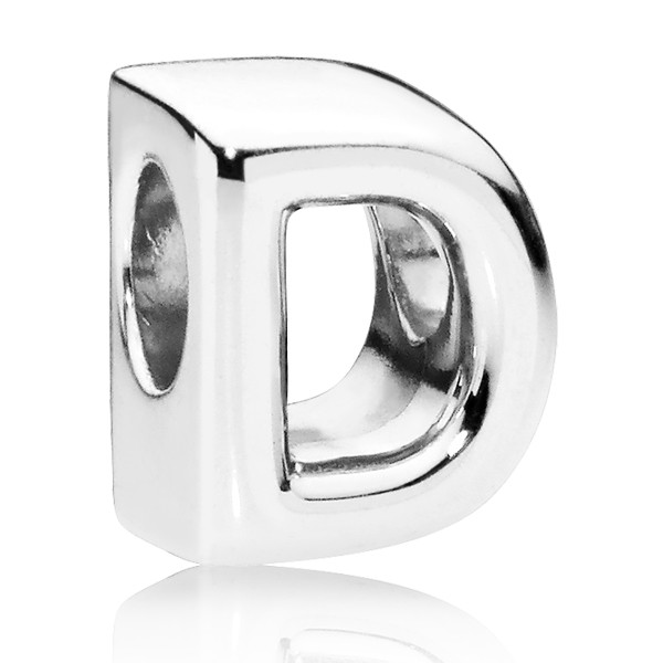 PANDORA Buchstabe Letter D silver charm 797458