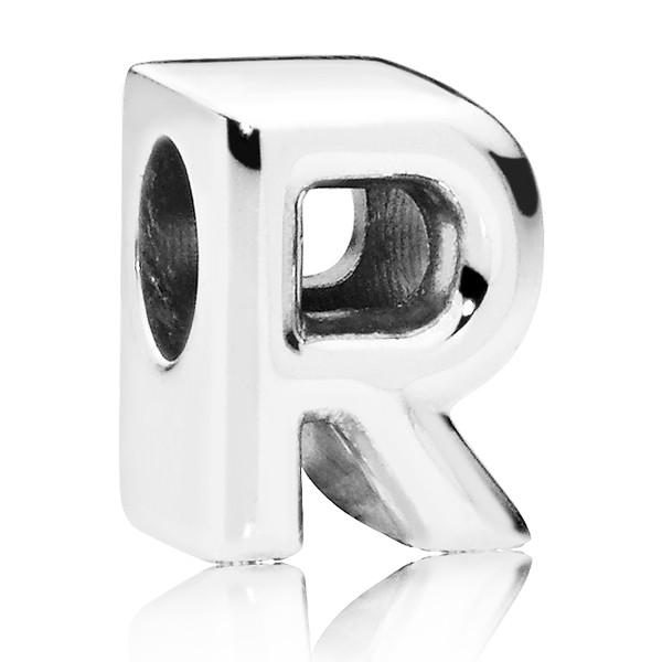 PANDORA Buchstabe Letter R silver charm 797472