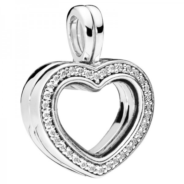 PANDORA Charm-Anhänger Floating Heart Locket 797248CZ