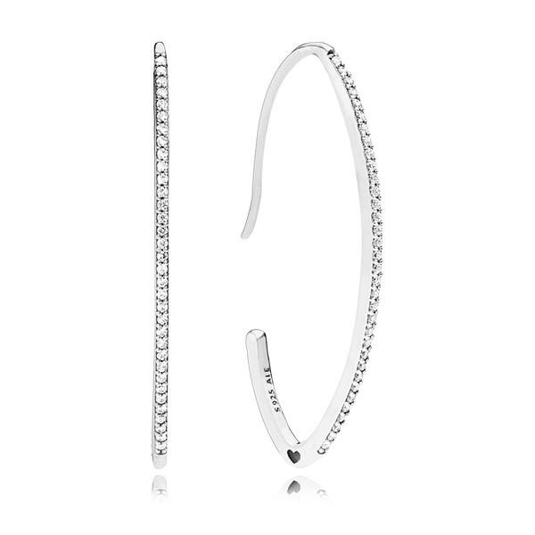 PANDORA Ohrringe Silver oval hoop 297691CZ