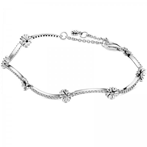 Funkelndes Gänseblümchen PANDORA Armband 598807C01