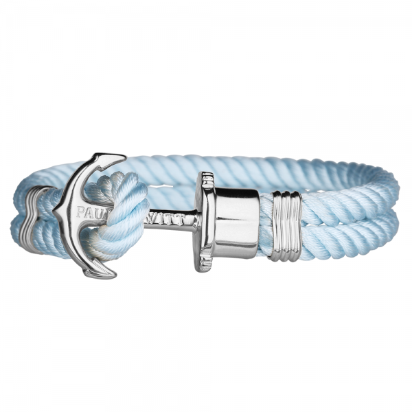 PAUL HEWITT PHREP Silber Anker Nylon Armband Blue Sky PH-PH-N-S-Bs-S