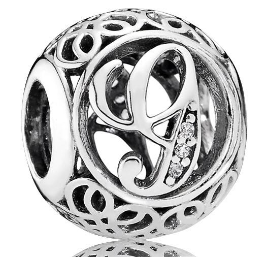PANDORA Charms Vintage G in 925er Silber 791851CZ